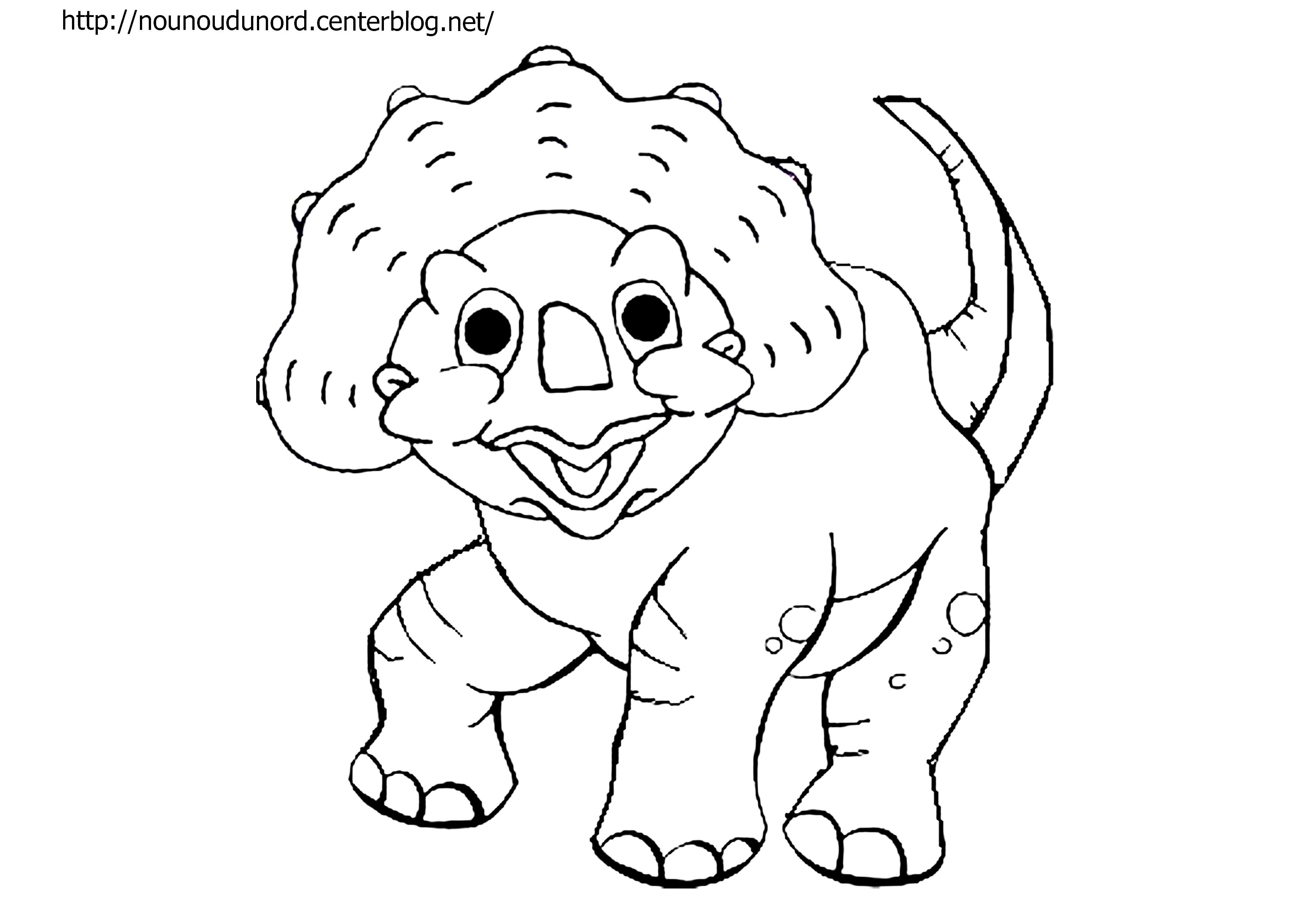 coloriage dessiner dinosaure lage de glace - Dessin Colorier Imprimer