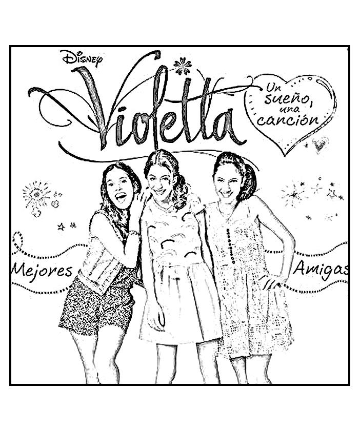 16 dessins de coloriage disney channel violetta imprimer - Violetta a colorier ...