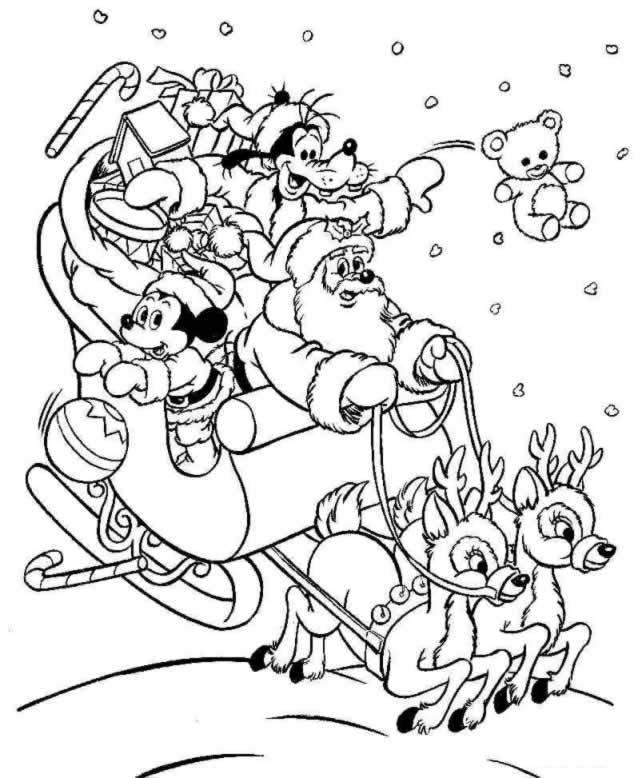 20 Dessins De Coloriage Disney Noel A Imprimer