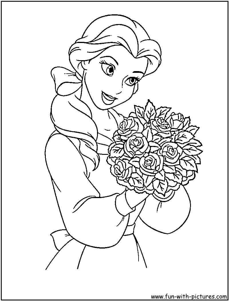 Princesse Disney Belle Coloriage