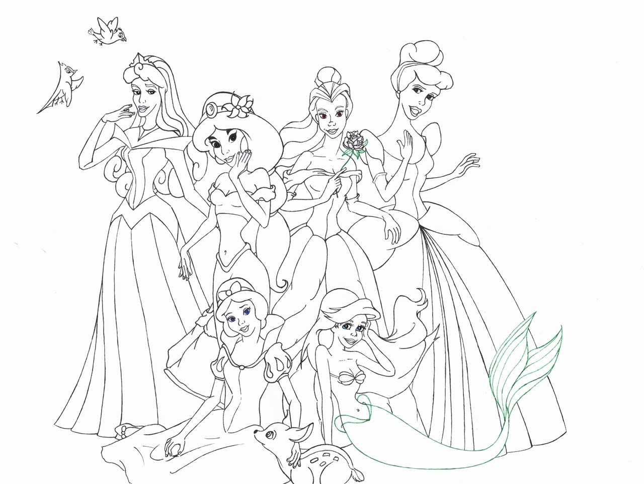 18 dessins de coloriage disney princess imprimer - Coloriage disney ...