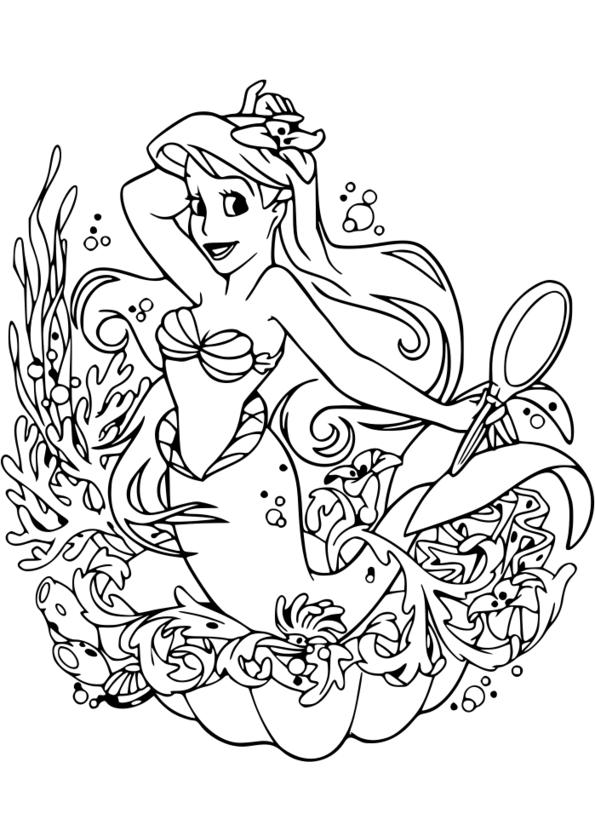Coloriage disney imprimer - Princesse disney a colorier ...
