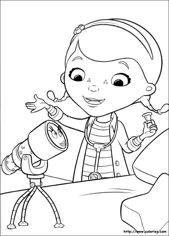 coloriage à dessiner de docteur la peluche a imprimer gratuit