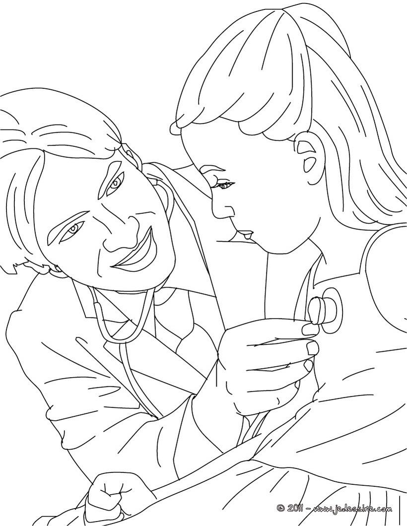 dessin à colorier disney docteur la peluche