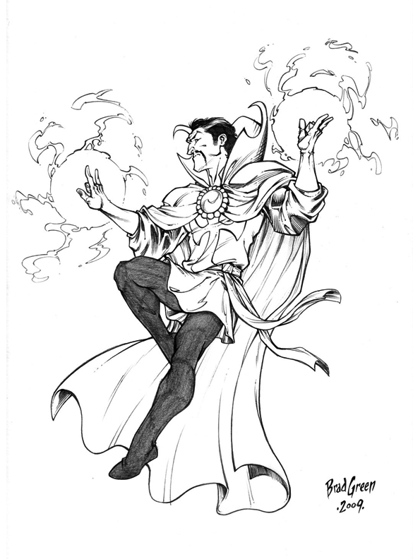coloriage doctor strange