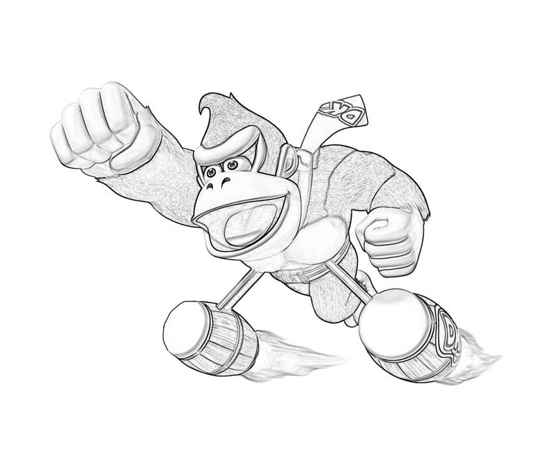8 dessins de coloriage donkey kong country returns imprimer - Coloriage donkey kong ...