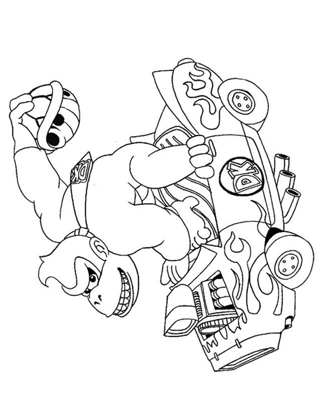 dessin à colorier de donkey kong