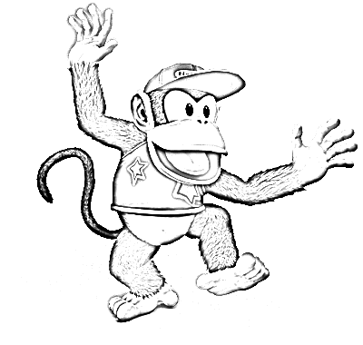 coloriage à dessiner donkey kong à imprimer