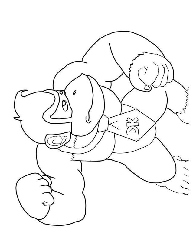 dessin à colorier mario et donkey kong