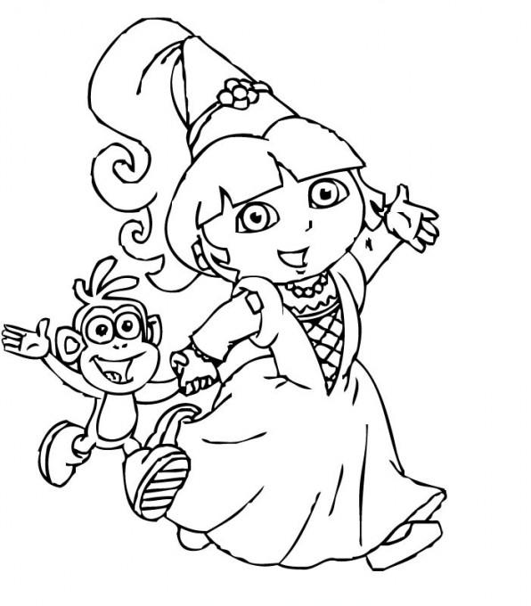 Coloriage204 Coloriage Dora A Imprimer Gratuit