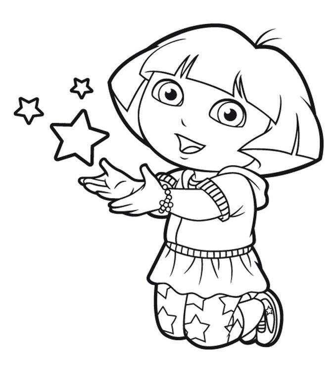 Voir Le Dessin Cc Coloriage Dora Et Babouche Dessin Imprimer