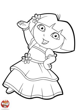 20 dessins de coloriage dora princesse imprimer imprimer - Dessin a colorier de dora ...
