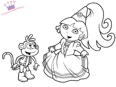 20 dessins de coloriage dora princesse imprimer imprimer - Coloriage dora princesse ...