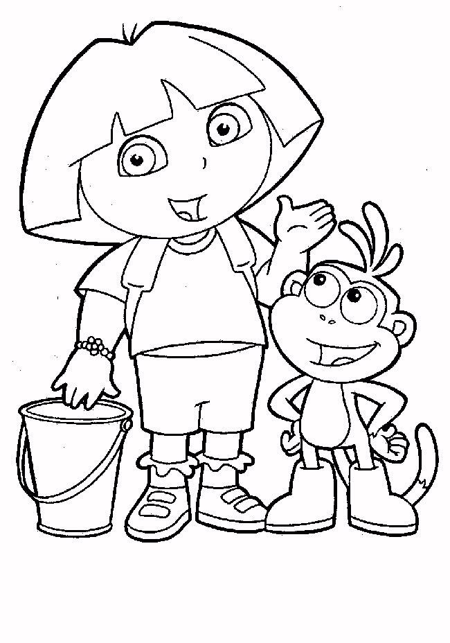 Dessins Coloriage Dora Princesse Imprimer