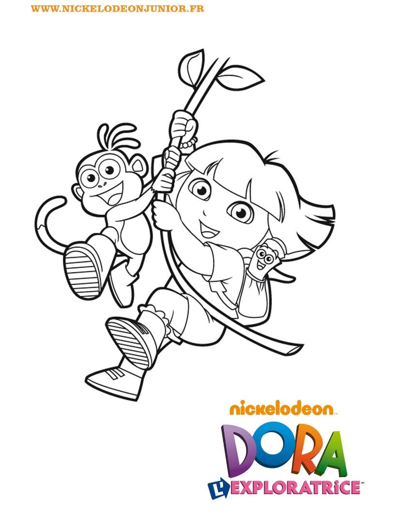 Coloriage dora and friends - Dora coloriage ...