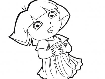 Coloriage En Ligne Sur Ordinateur.Coloriage A Dessiner Dora A Colorier Sur L Ordinateur