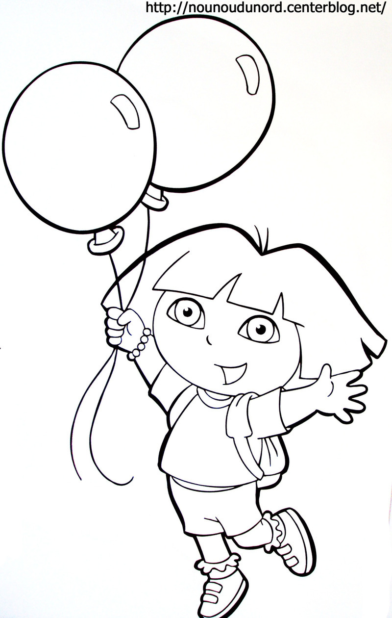 Dessin colorier dora princesse en ligne - Dessin anime dora exploratrice gratuit ...