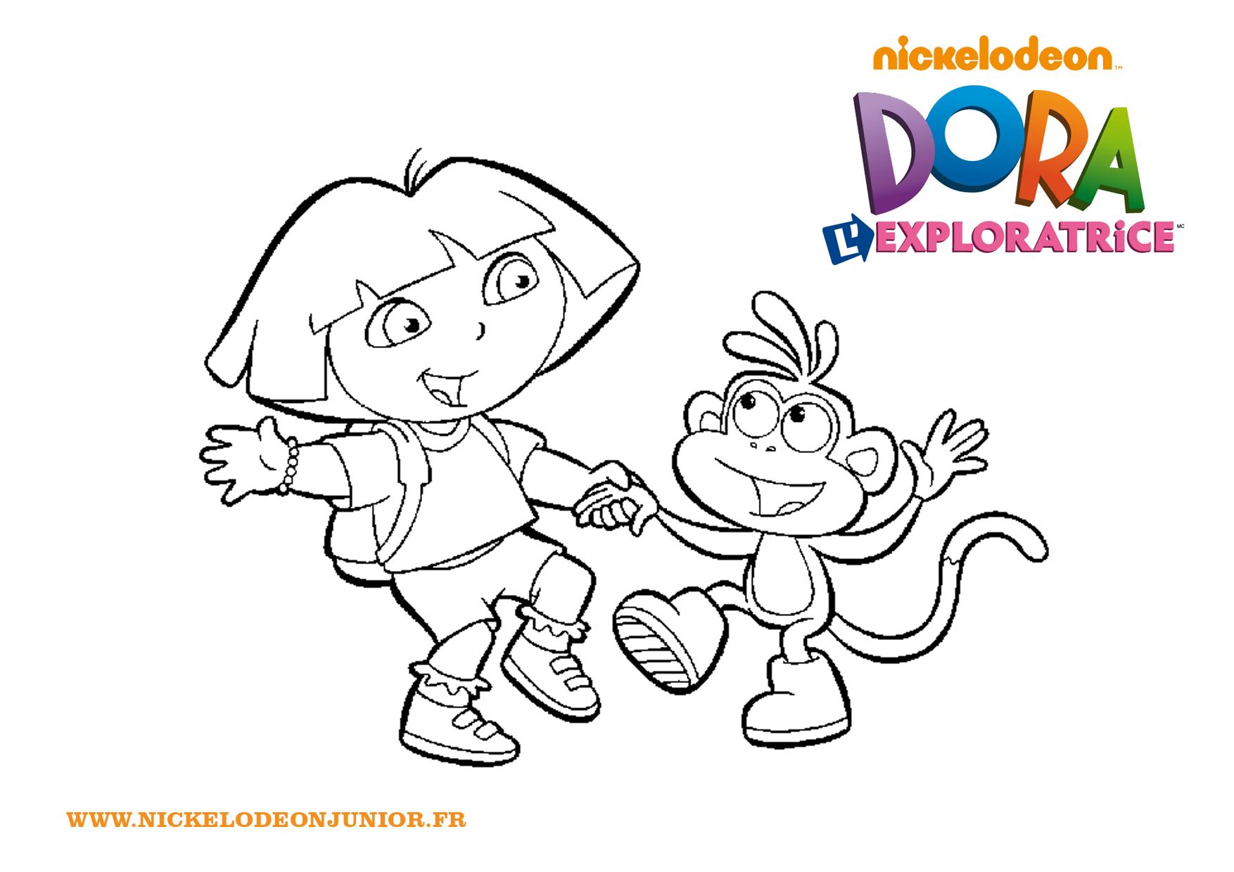 Unique Dessin à Colorier Et à Imprimer Dora
