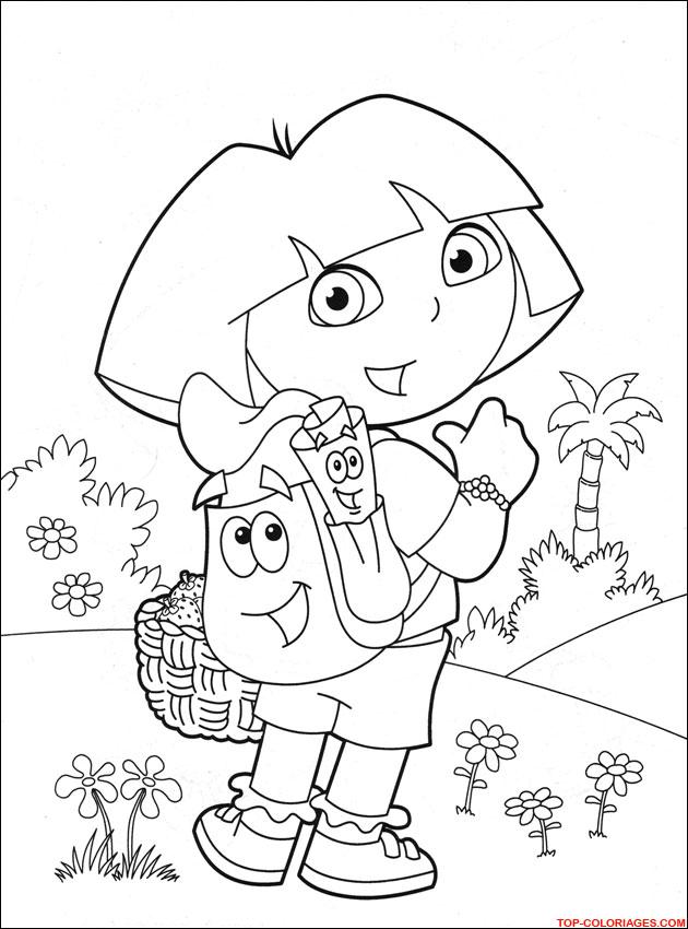 Coloriage Gratuit Dora L Exploratrice Imprimer