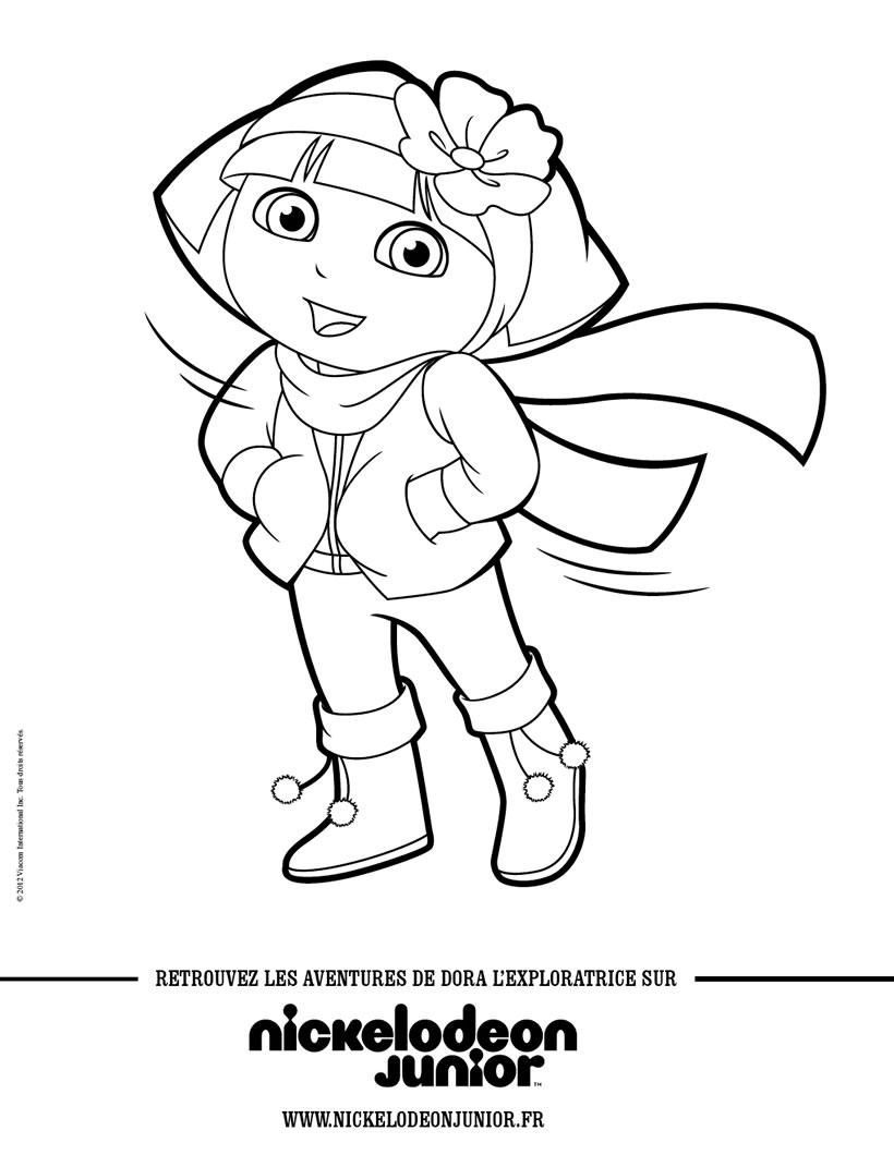 Dessin dora princesse neiges gratuit - Dora princesse des neiges ...