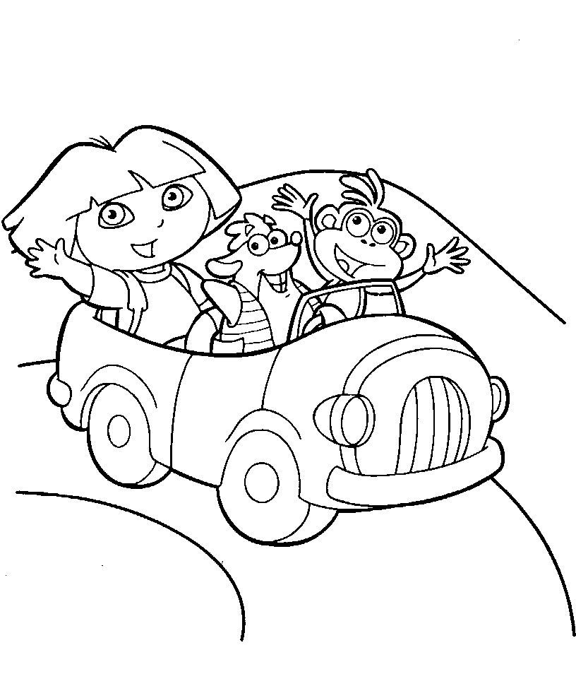 Dessin colorier dora 3 ans - Dora coloriage ...