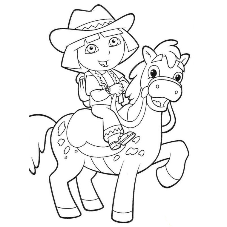 Coloriage dora and friends - Dessiner dora ...