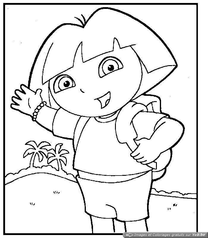 Dessin colorier dora licorne - Dora princesse des neiges ...