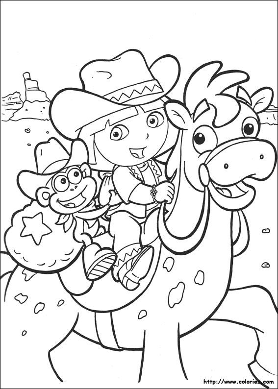 Coloriage Dora L Exploratrice A Imprimer