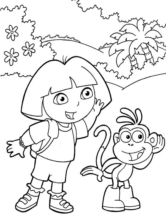 dora dessin à colorier jouer