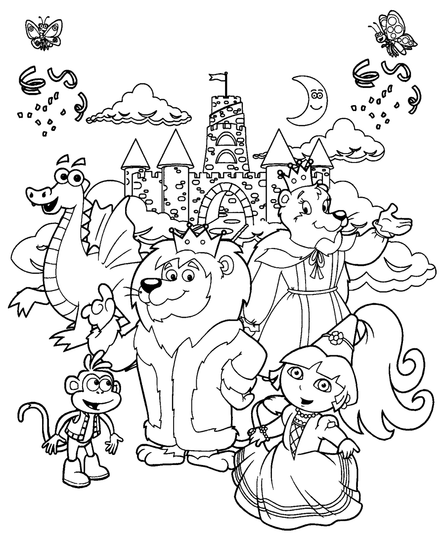 Belle jeux dora coloriage peinture - Jeux de dessin dora ...