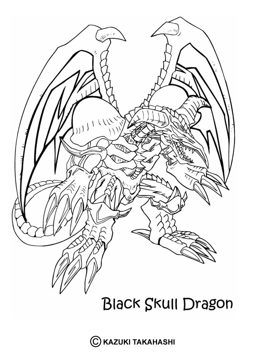 19 dessins de coloriage dragon 2 imprimer - Coloriage yu gi oh ...