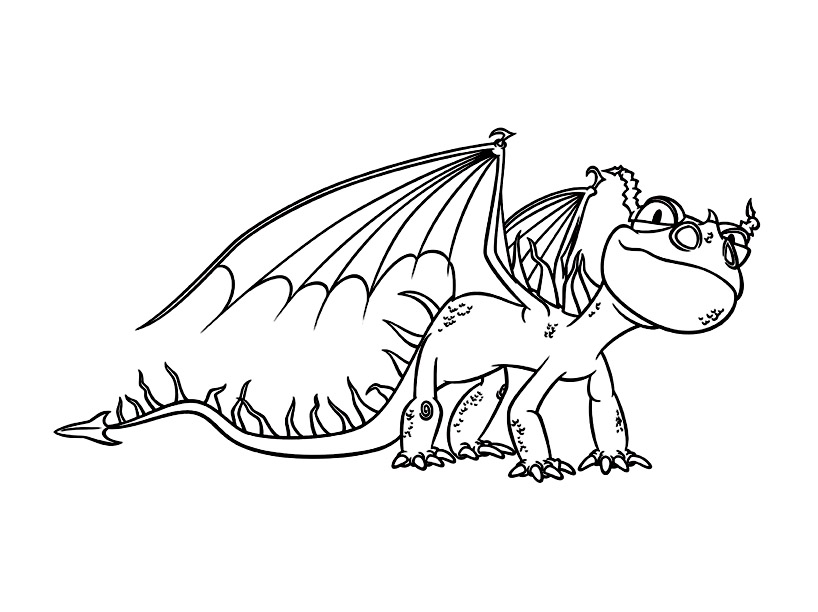 19 dessins de coloriage dragon 2 imprimer - Coloriage dragon 2 ...