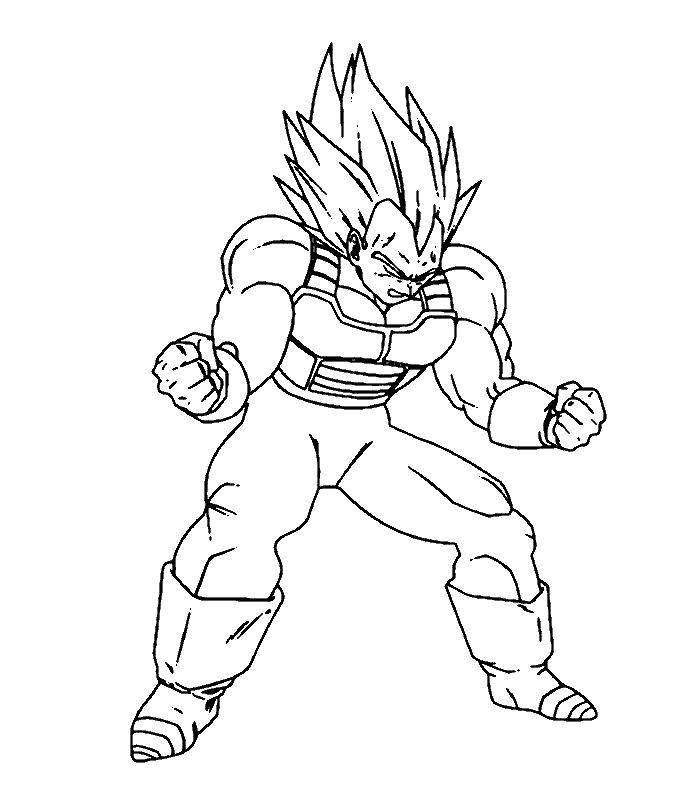 20 dessins de coloriage Dragon Ball Z Sangoku à imprimer