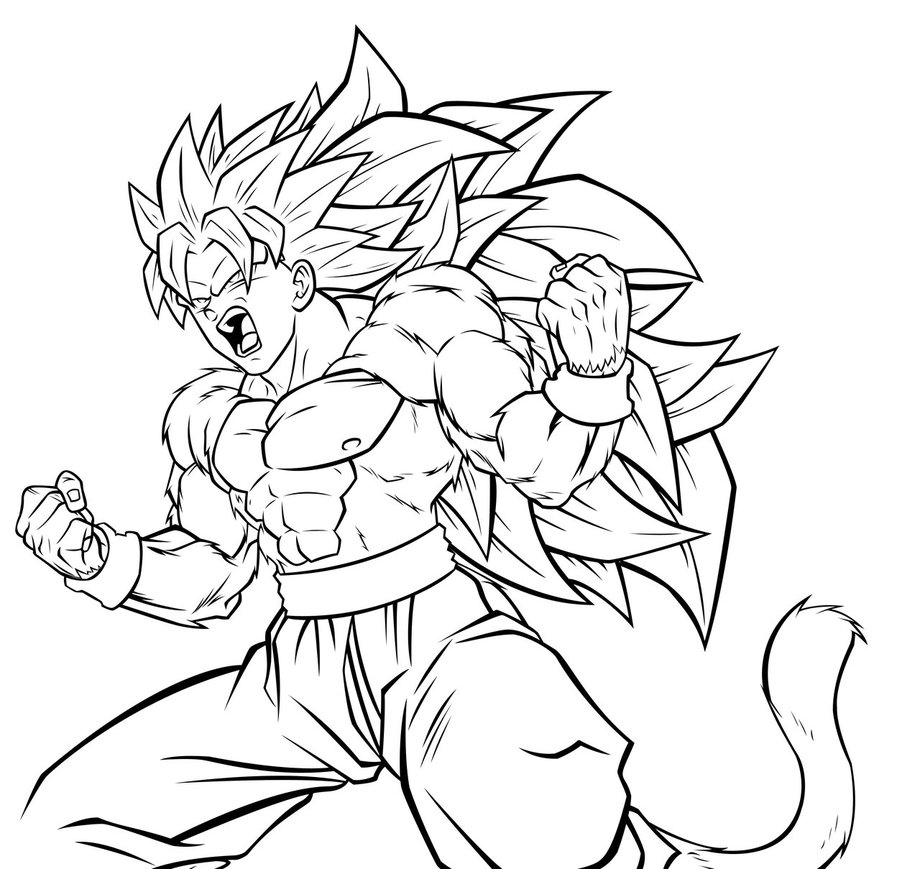 20 dessins de coloriage dragon ball z sangoku  u00e0 imprimer