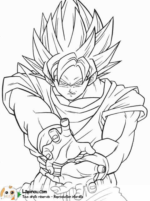 20 dessins de coloriage dragon ball z sangoku imprimer - Dessin manga dragon ball z ...