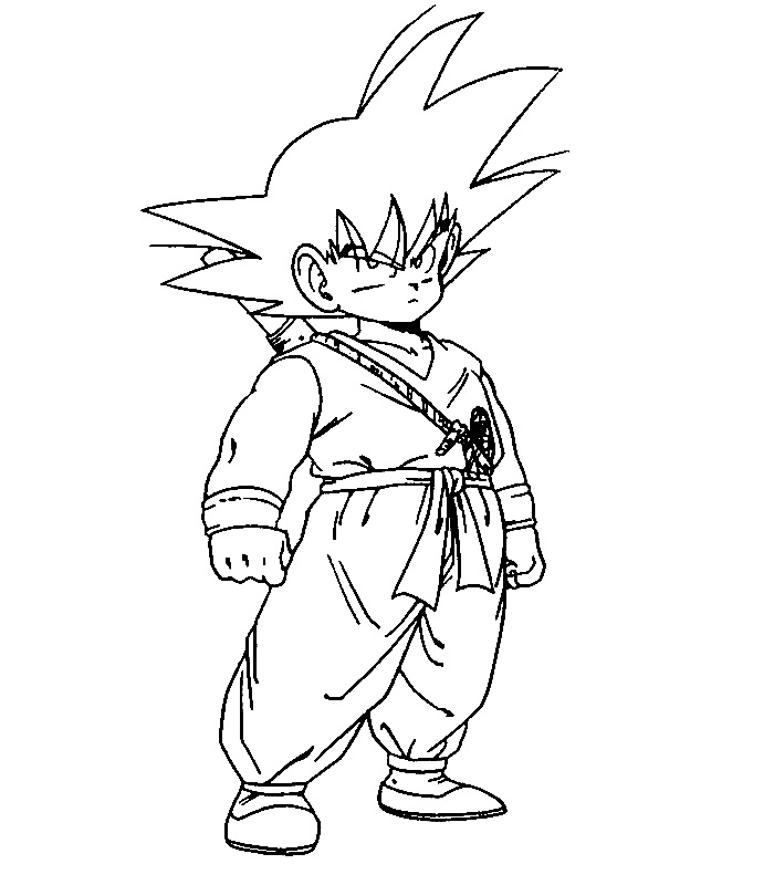 20 dessins de coloriage dragon ball z sangoku imprimer - Sangoku dessin ...
