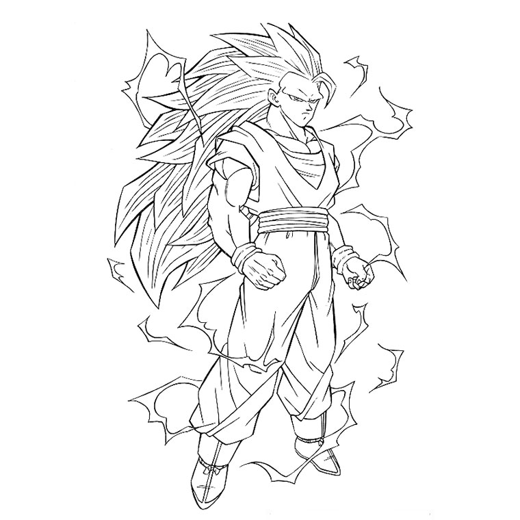 20 dessins de coloriage dragon ball z sangoku imprimer - Dessin dragon couleur ...