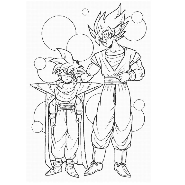 coloriage dragon ball z en ligne