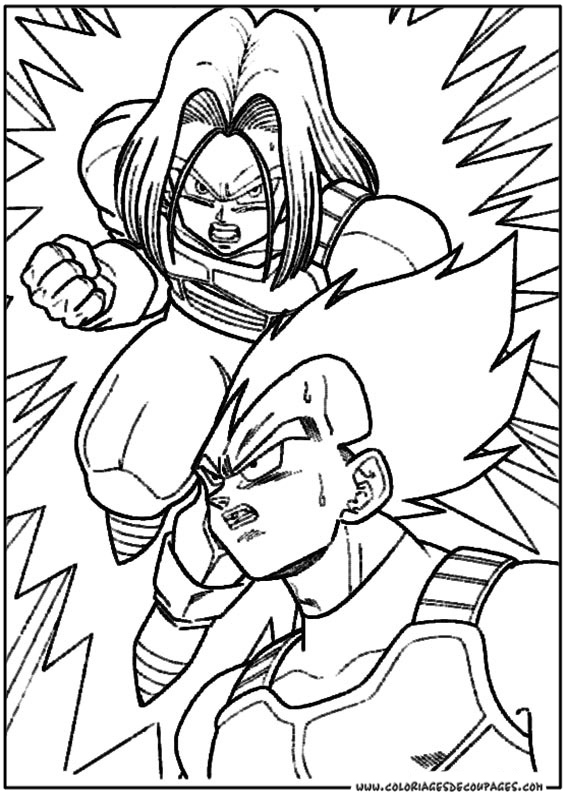 coloriage dragon ball z gratuit