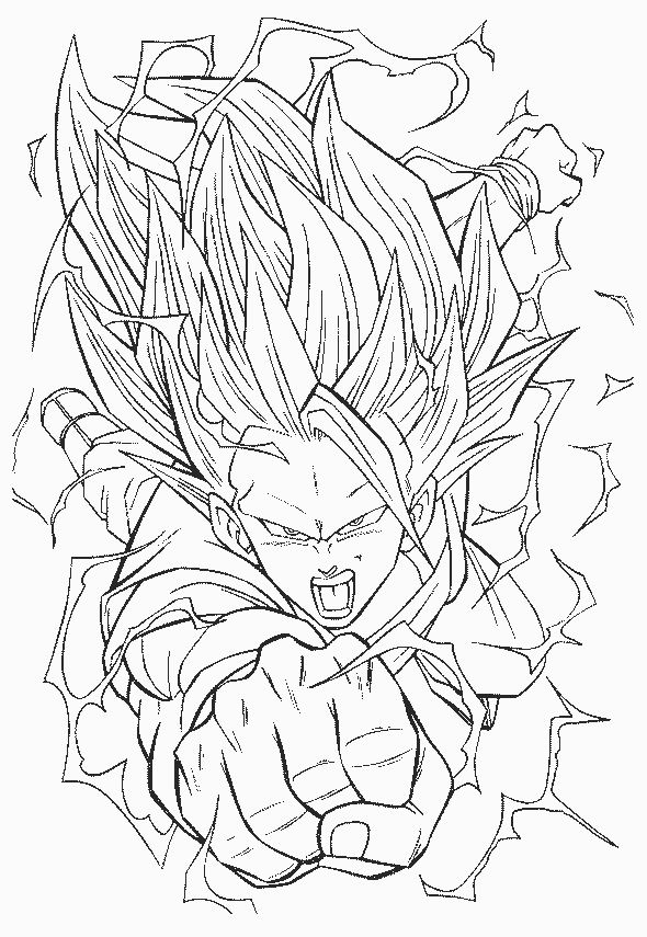 Dessin colorier dragon ball z sangohan - Coloriage sangohan ...