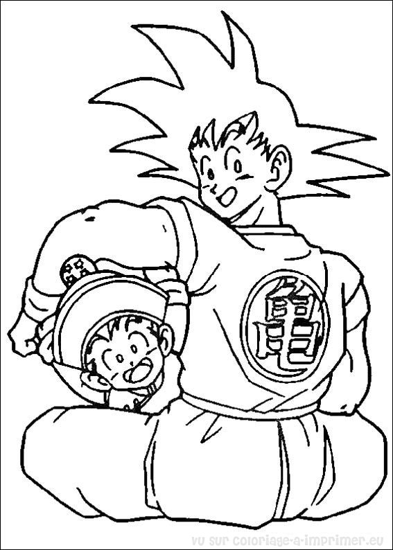 Coloriage A Dessiner Dragon Ball Z Sangoku Super Sayen 4