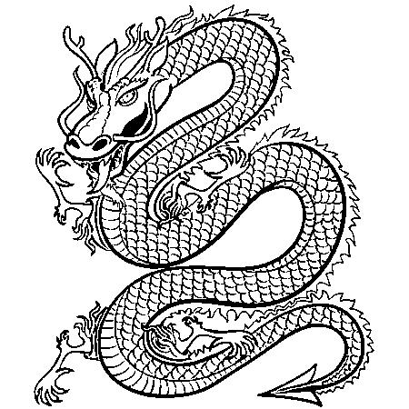 19 dessins de coloriage dragon chinois imprimer - Dessin dragon couleur ...