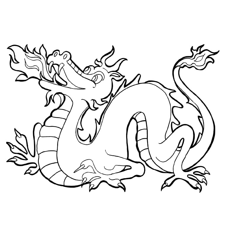 19 dessins de coloriage dragon chinois imprimer. Black Bedroom Furniture Sets. Home Design Ideas
