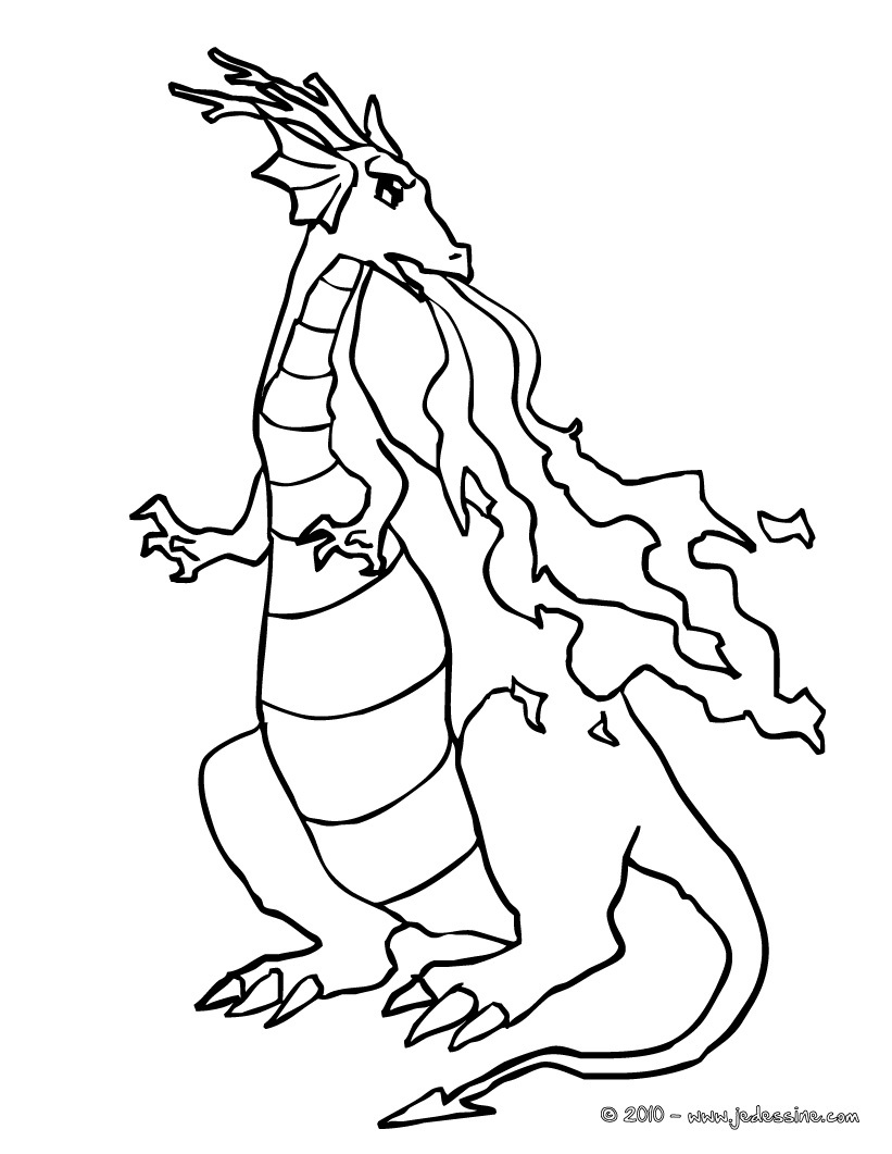 20 dessins de coloriage dragon en ligne imprimer - Dessin facile de dragon ...