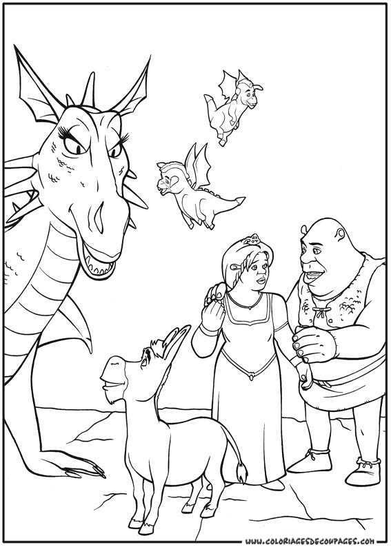 10 dessins de coloriage dragon shrek imprimer for Shrek dragon coloring pages