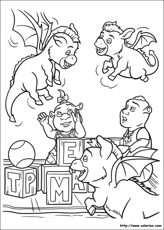 10 dessins de coloriage dragon shrek imprimer - Coloriage shrek ...