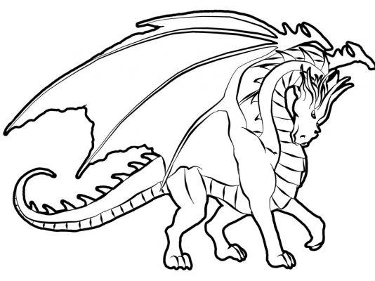 Coloriage Dragon Mania Legends