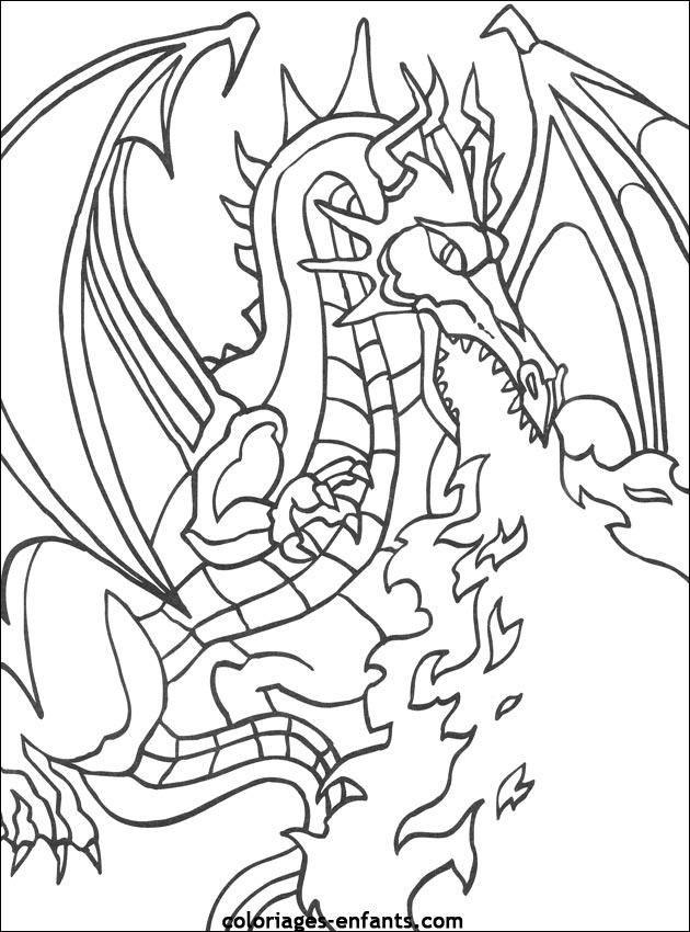 Coloriage dessiner dragon electrique - Dessiner dragon ...