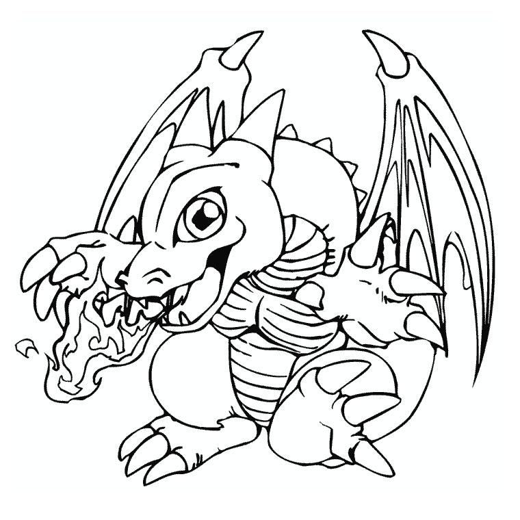 Dessin petit dragon imprimer - Imprimer dragon ...