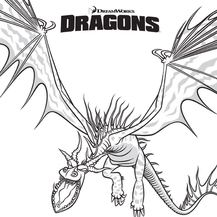 Dessin A Colorier Dragon A 3 Tetes